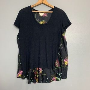 ANTHRO DELETTA | Abstract Floral Blouse Sz S